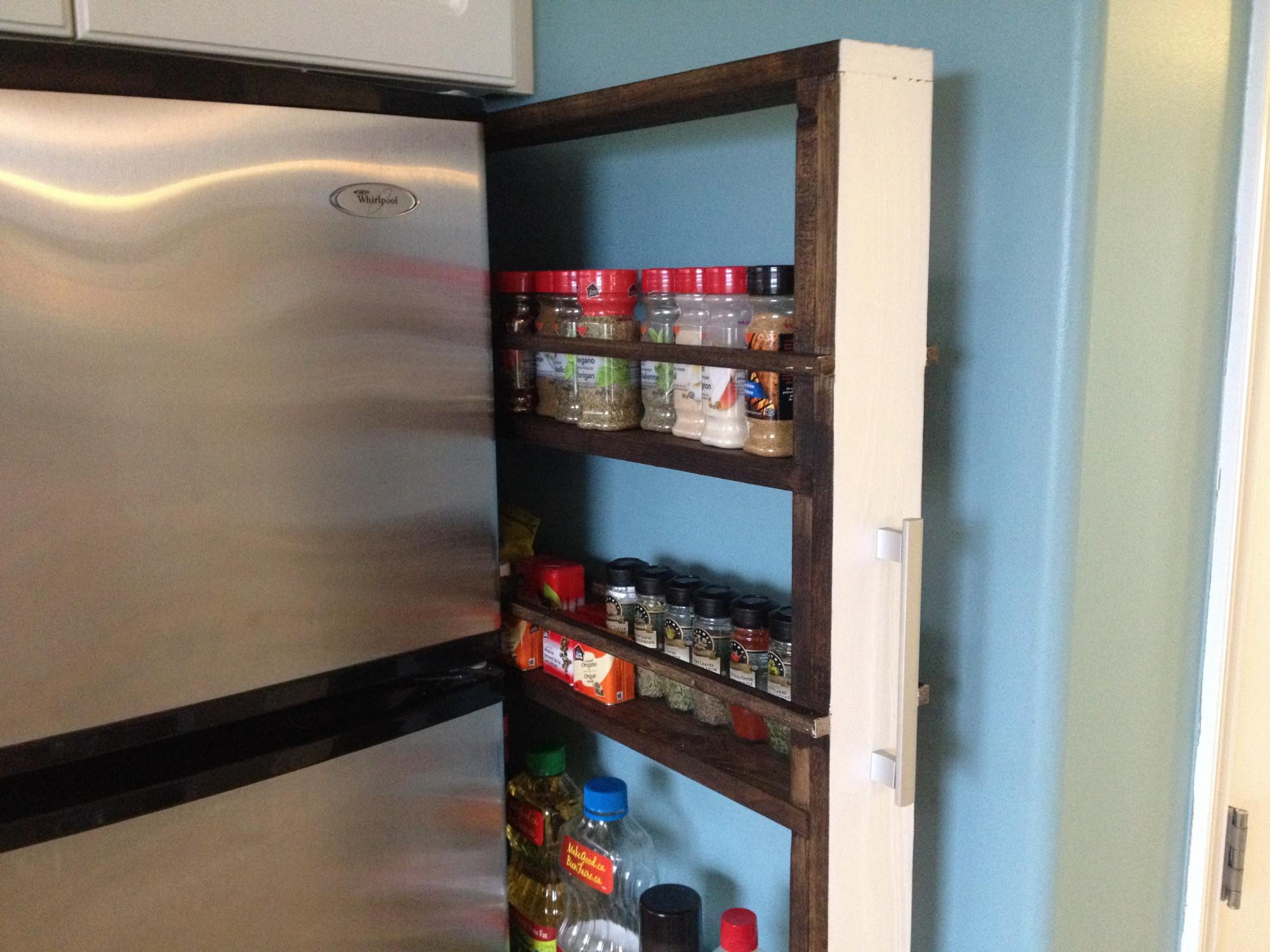 Bạn thậm chí có thể sử dụng không gian phía sau tủ lạnh hoặc bếp nấu nếu bạn đặt một kệ kéo vào đó. Nó không phải là việc đơn giản nhất để làm, nhưng kết quả sẽ được đền đáp trong một thời gian rất dài. Đây là hướng dẫn về cách làm cho nó.