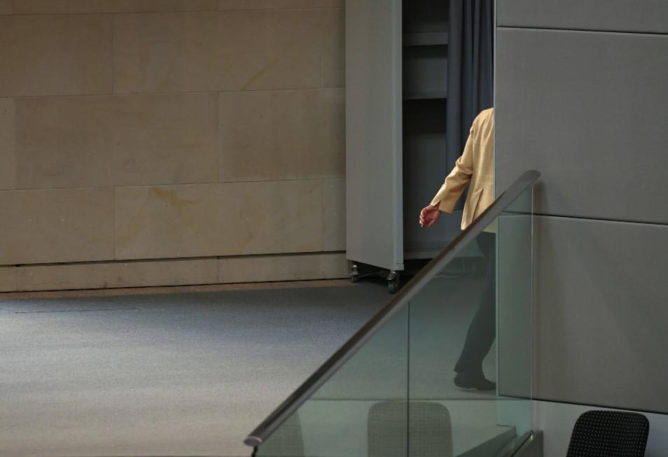 Thủ tướng Angela Merkel trở về nhà sau chuyến công tác ngày 7/9/2021 - Ảnh: Sean Gallup/Getty Images