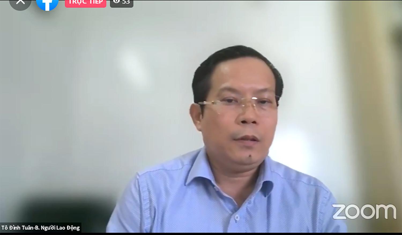 Ông Tô Đình Tuân -  Tổng Biên tập báo Người lao động