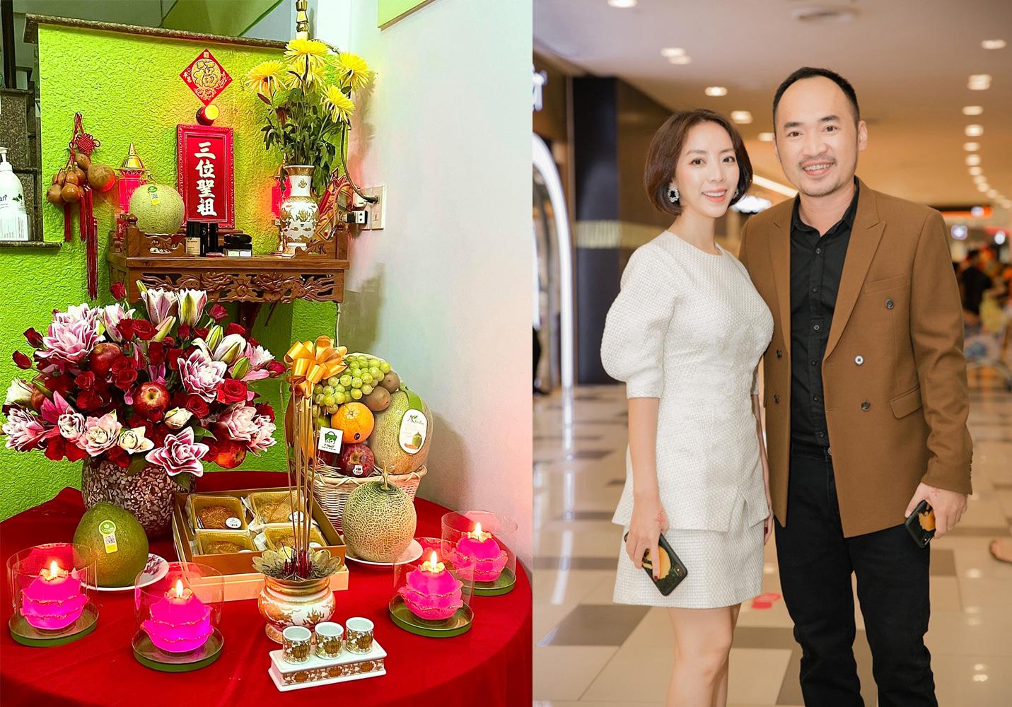 Vợ chồng diễn viên Thu Trang, Tiến Luật mong Tổ nghề thương và mang bình an đến anh, chị, em nghệ sĩ để tiếp tục cống hiến cho khán giả.
