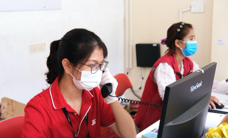 Hình ảnh đội ngũ nhân viên chăm sóc khách hàng của J&T Express - Ảnh: J&T Express