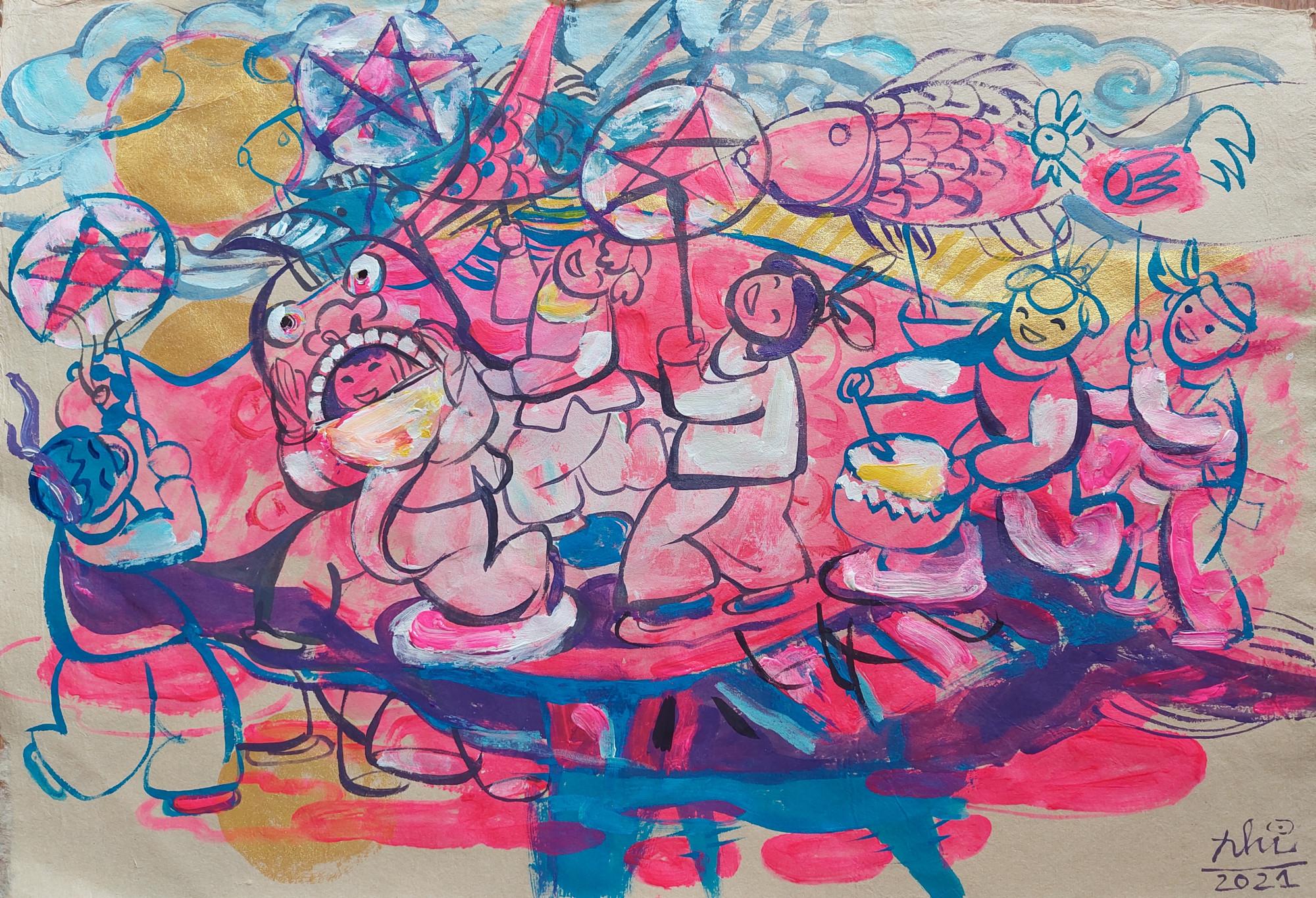 Tranh của họa sĩ Ngô Bình Nhi