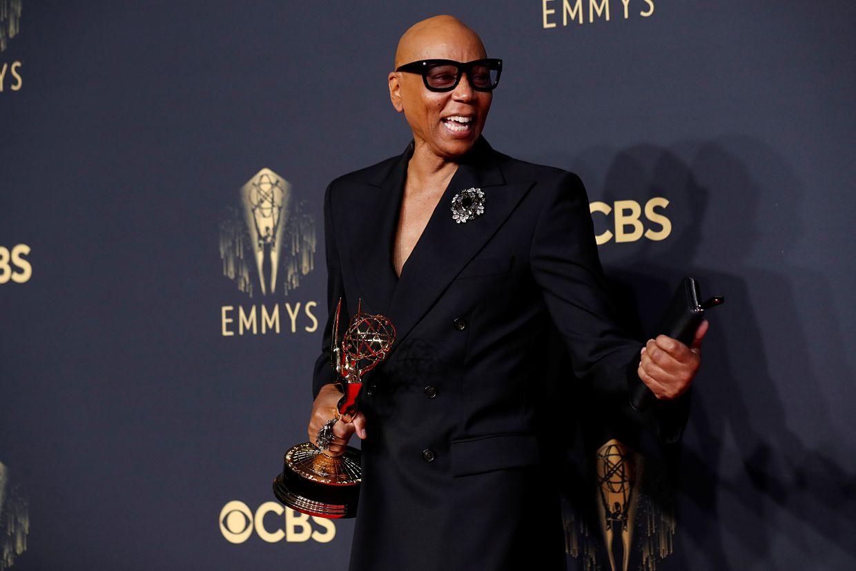 Nghệ sĩ RuPaul Andre Charles tại Emmy 2021.