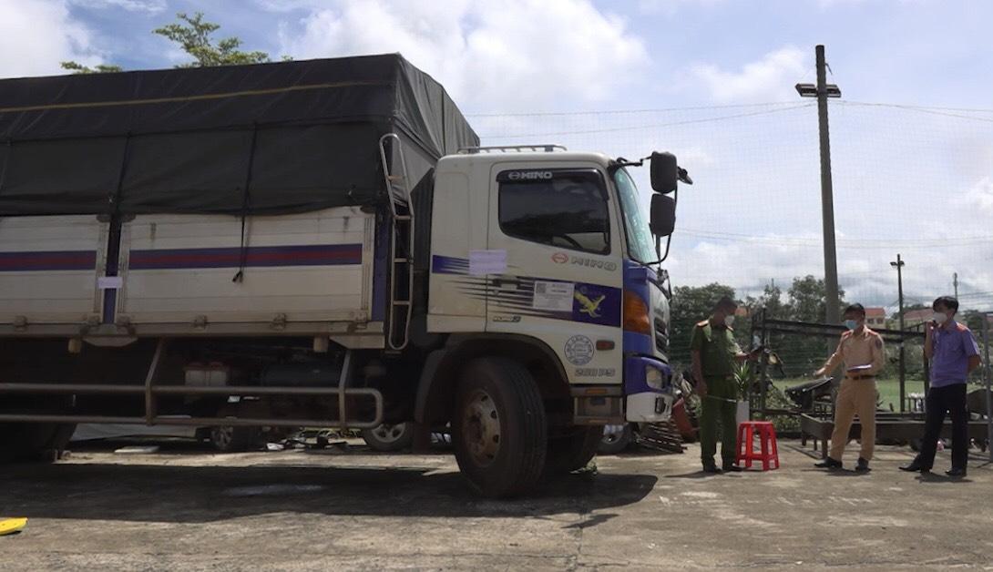 Chiếc xe tải do Lê Thành An điều khiển