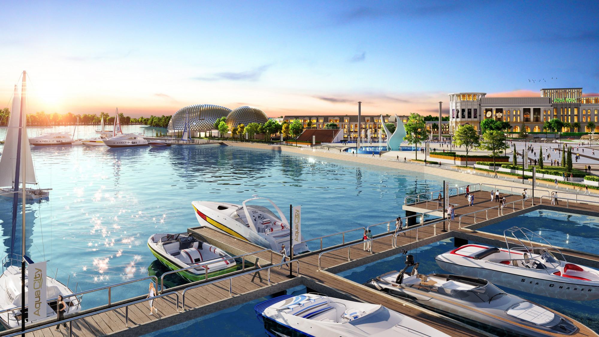 Anh Thơ nhận định tổ hợp quảng trường - bến du thuyền Aqua Marina được xem là điểm đến thỏa mãn lối sống đỉnh cao của cư dân và du khách