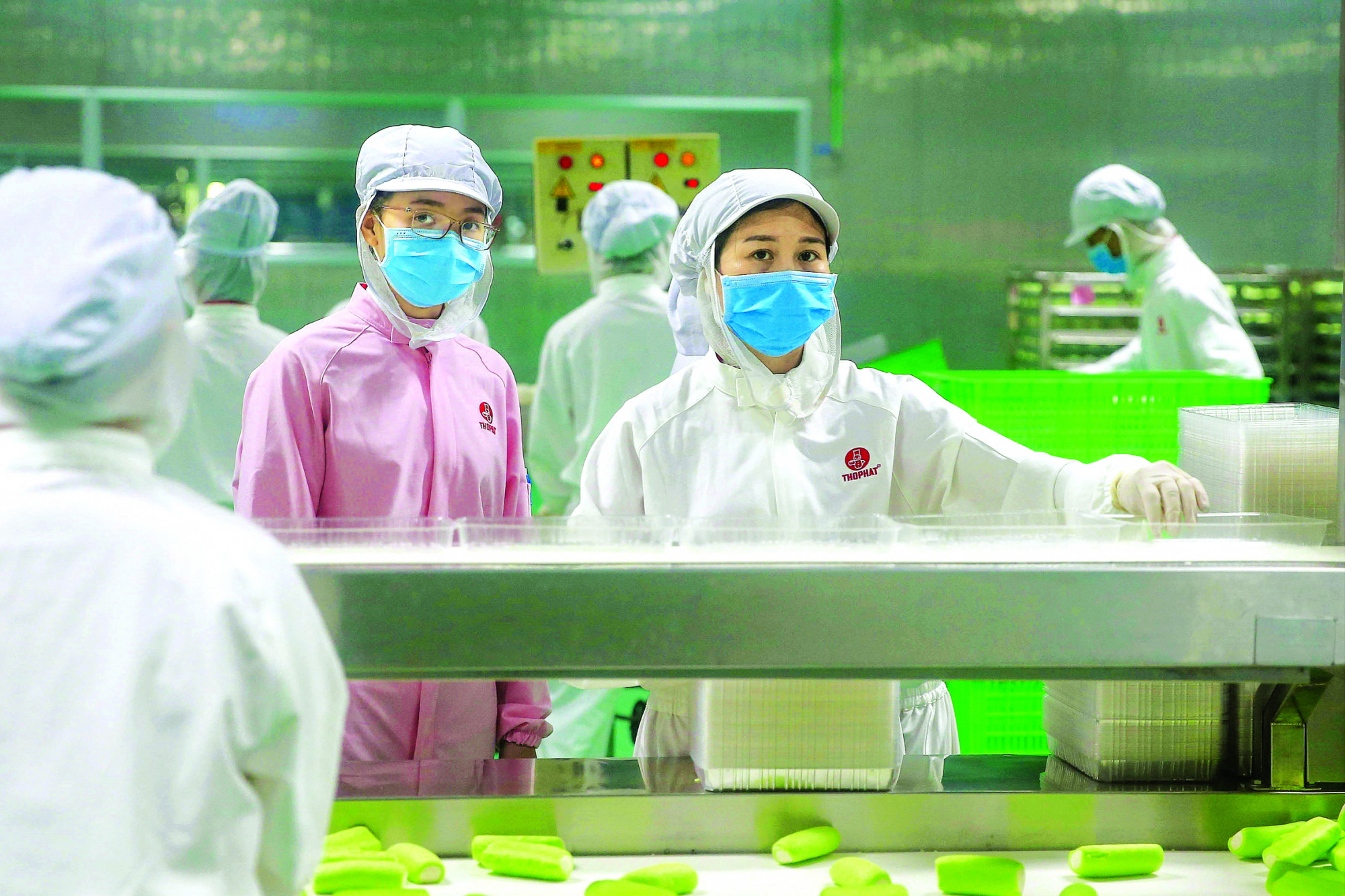 Dù thuộc nhóm sản xuất mặt hàng thiết yếu nhưng không phải công ty thực phẩm nào cũng có thể duy trì hoạt động trong dịch COVID-19 (trong ảnh: Sản xuất bánh bao tại Công ty TNHH MTV Chế biến thực phẩm Thọ Phát) - ẢNH: LINH LINH