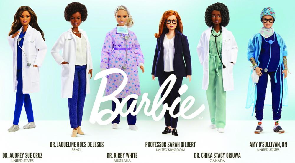 """Bộ sáu búp bê Barbie """"nữ anh hùng tuyến đầu"""" - ẢNH: MATTEL"""