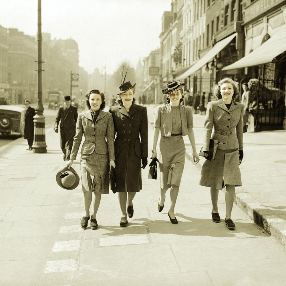 Thời trang đường phố tại Anh những năm 1940