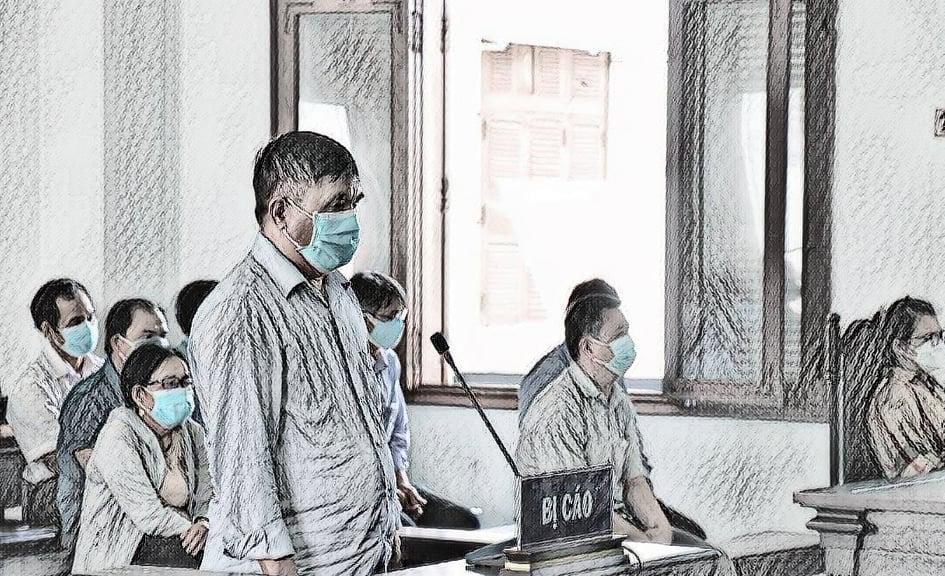 Bị cáo Phạm Văn Dũng tại tòa