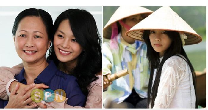NSND Như Quỳnh và diễn viên Lee Young Ae trong phim Cô dâu vàng