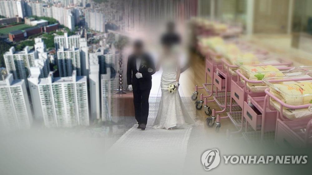 Năm 2020 có hơn 42% những người trong độ tuổi 30 ở Hàn Quốc chưa kết hôn - Ảnh: Yonhap News