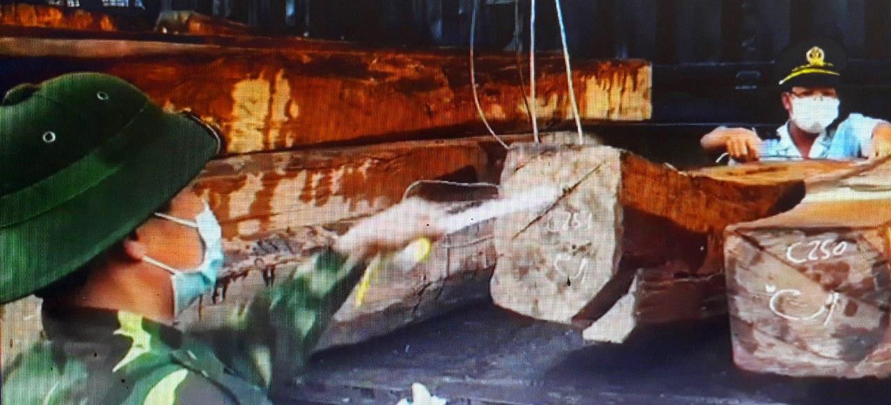 Bộ đội Biên Phòng Quảng Trị xác định đây là vụ bắt giữ lượng gỗ lậu và đá phấn lớn nhất từ đầu năm đến nay