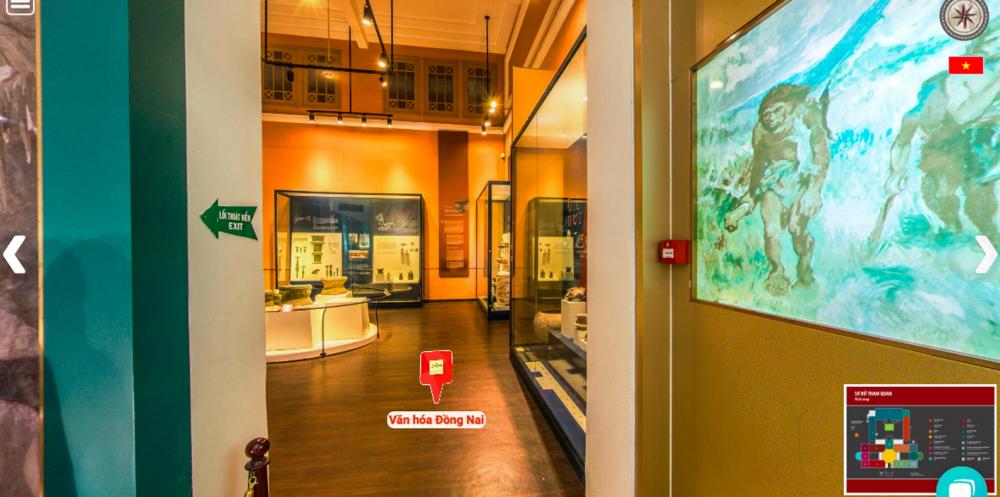 Một phòng trưng bày trong không gian 3D của Bảo tàng Lịch sử TP.HCM