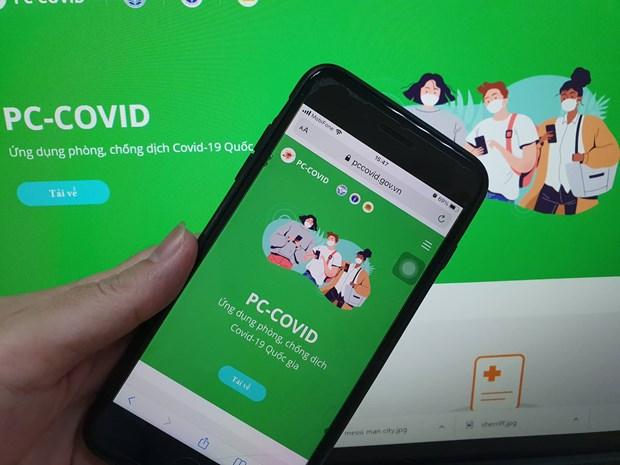 Tên chính thức của ứng dụng là PC-COVID Quốc gia