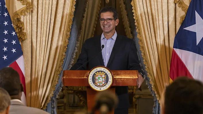 Thống đốc Puerto Rico Pedro Pierluisi tại một cuộc họp báo năm 2019 - Ảnh: Anadolu/Getty Images