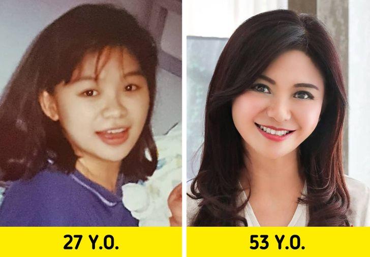 7. Tận hưởng cuộc sống: Tỏa sáng hạnh phúc Một trong những blogger nổi tiếng nhất Indonesia trông như 35 tuổi khi 53 tuổi đã tiết lộ bí mật về tuổi thanh xuân của mình. Càng lớn tuổi, cô ấy càng hạnh phúc. Hạnh phúc giúp duy trì vẻ đẹp bên trong và bên ngoài. Hãy cười nhiều hơn và yêu bản thân mình hơn.
