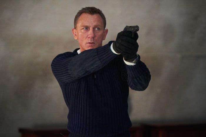 Daniel Craig vai James Bond trong No Time to Die