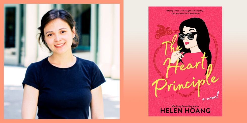 Nữ nhà văn người Mỹ gốc Việt Helen Hoang cùng tác phẩm mới nhất mang tên The Heart Principle kể về một nhân vật chính bị mắc chứng tự kỷ - Berkley/Penguin Random House