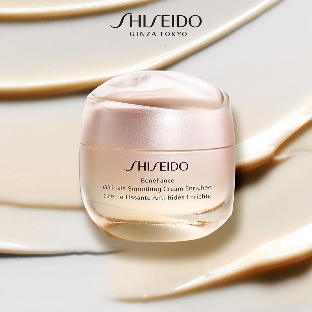 Khi mua kem dưỡng da Shiseido Benefiance Wrinkle Smoothing Cream Enriched, bạn sẽ có hội nhận về 7 món quà tặng trị giá lên đến 2.370.000 đồng. Số CBSPMP: 69515/18/CBMP-QLD
