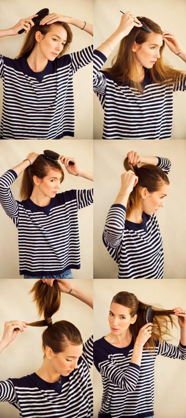 Kiểu tóc đuôi ngựa buộc lệch một bên thanh lịch