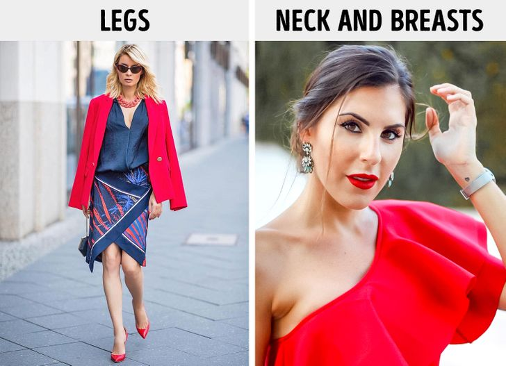 10. Quần áo bất đối xứng Không phải phụ nữ nào cũng sẵn sàng thử một chiếc váy với các chi tiết bất đối xứng vì chúng có thể thay đổi tỷ lệ cơ thể một cách đáng kể. Tuy nhiên, đôi khi nó có thể giúp chúng ta nỗi bật vì chính những đường cắt không đồng đều sẽ thu hút sự chú ý vào những nơi cần thiết và che đi những điểm không hoàn hảo khác. Ví dụ, một chiếc váy bất đối xứng sẽ giúp thu hút sự chú ý vào đôi chân, trong khi một đường viền cổ bất đối xứng sẽ thu hút sự chú ý đến xương quai xanh, cổ và phần ngực. Sarah Young, chuyên gia thời trang và làm đẹp tại The Independent, một tờ báo của Anh đã chỉ ra rằng những chiếc áo không đối xứng với choker ở cổ và những chiếc váy một bên vai đang là những mốt thời trang được ưa chuộng.
