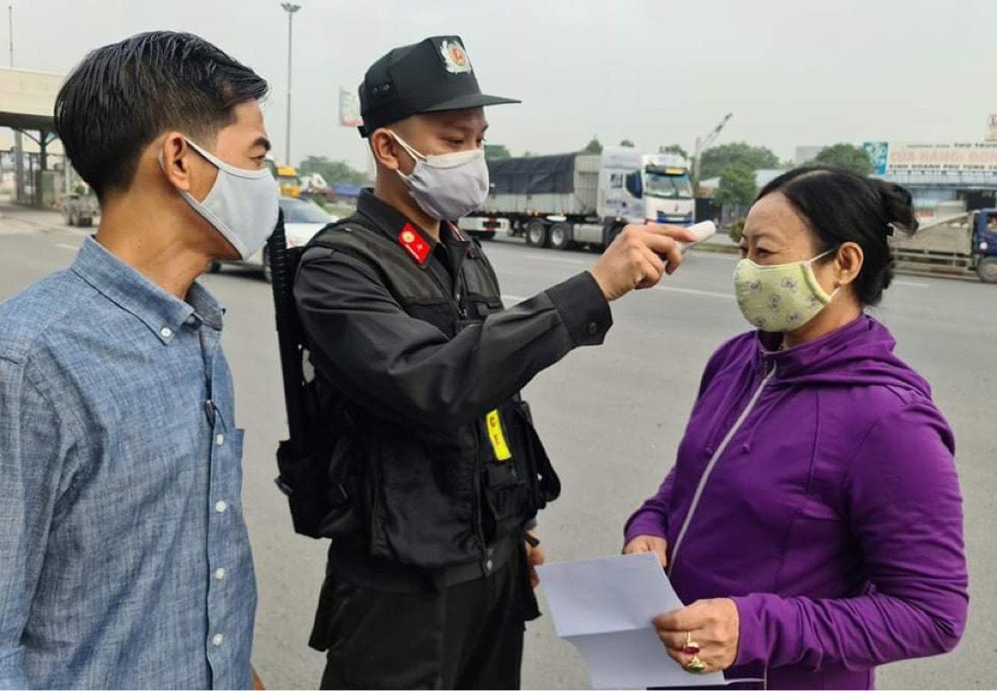 Một chốt kiểm soát dịch trên địa bàn Đồng Nai