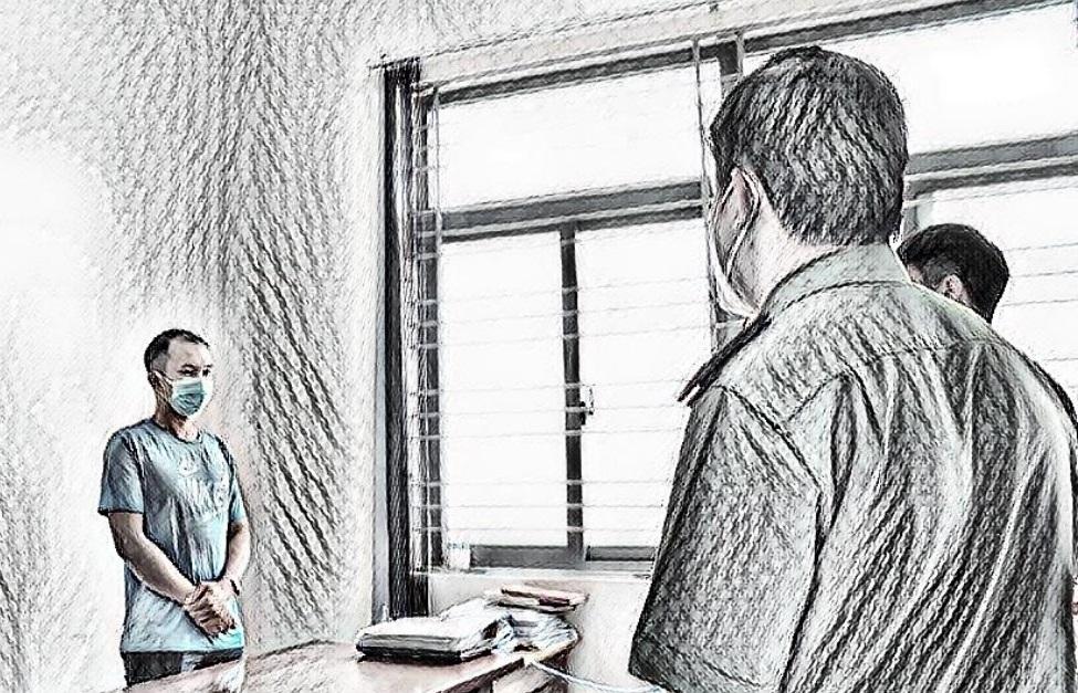 Nguyễn Thanh Hải tại cơ quan công an