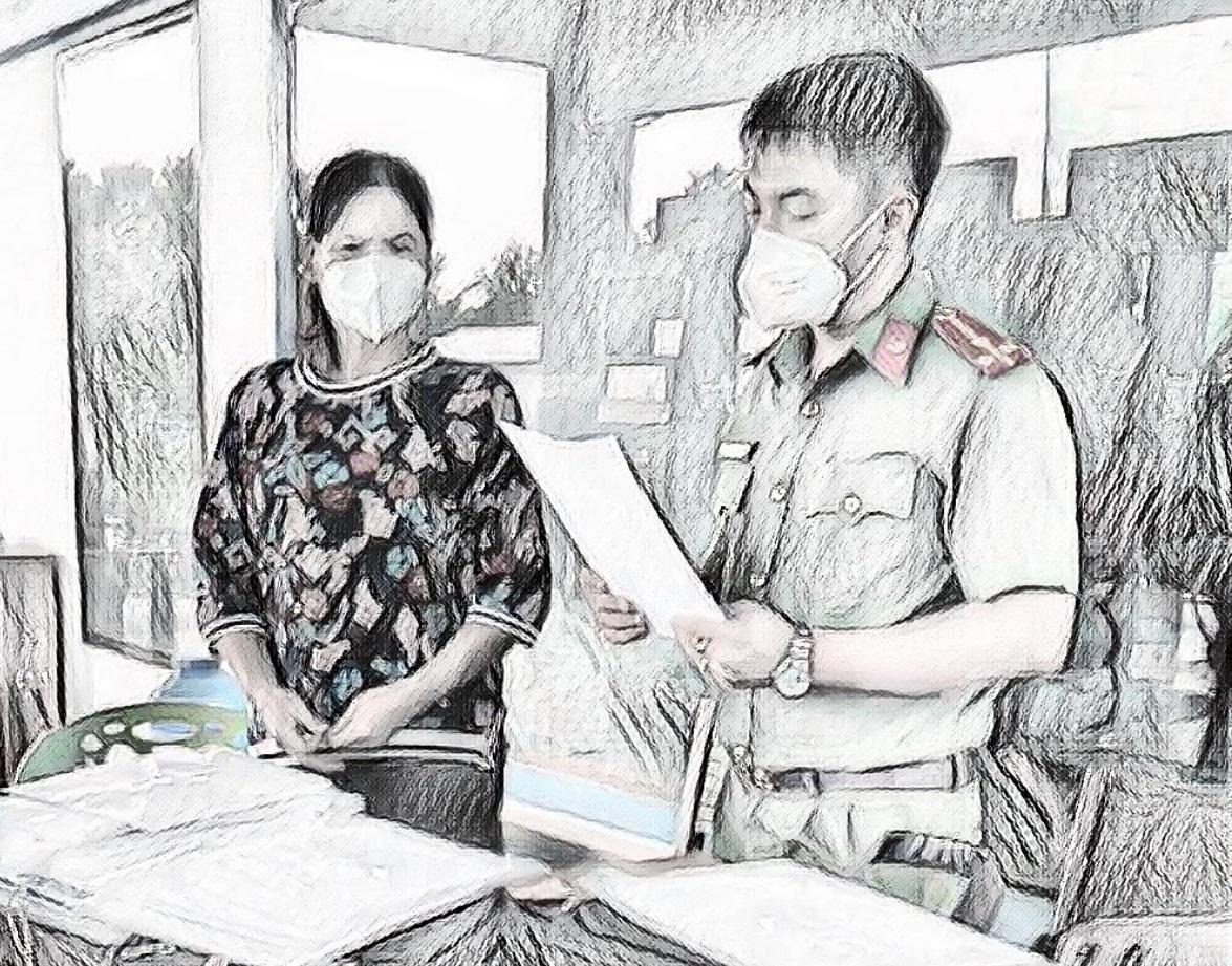 Lê Thị Hồng tại cơ quan điều tra