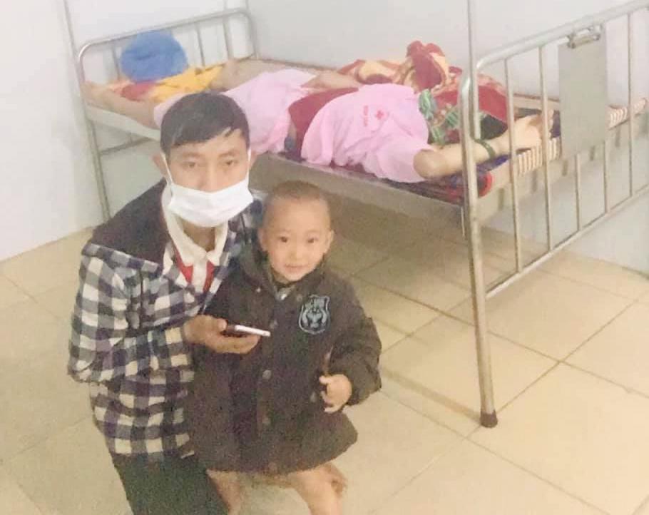 Gia đình 4 người được bố trí nghỉ ngơi tại Trung tâm Y tế huyện Hải Lăng