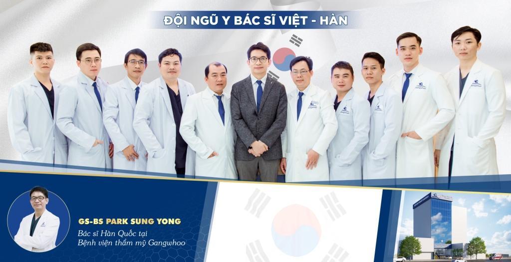 Đội ngũ giáo sư, bác sĩ tại BVTM Gangwhoo - Ảnh: BVTM Gangwhoo thực hiện trước năm 2020