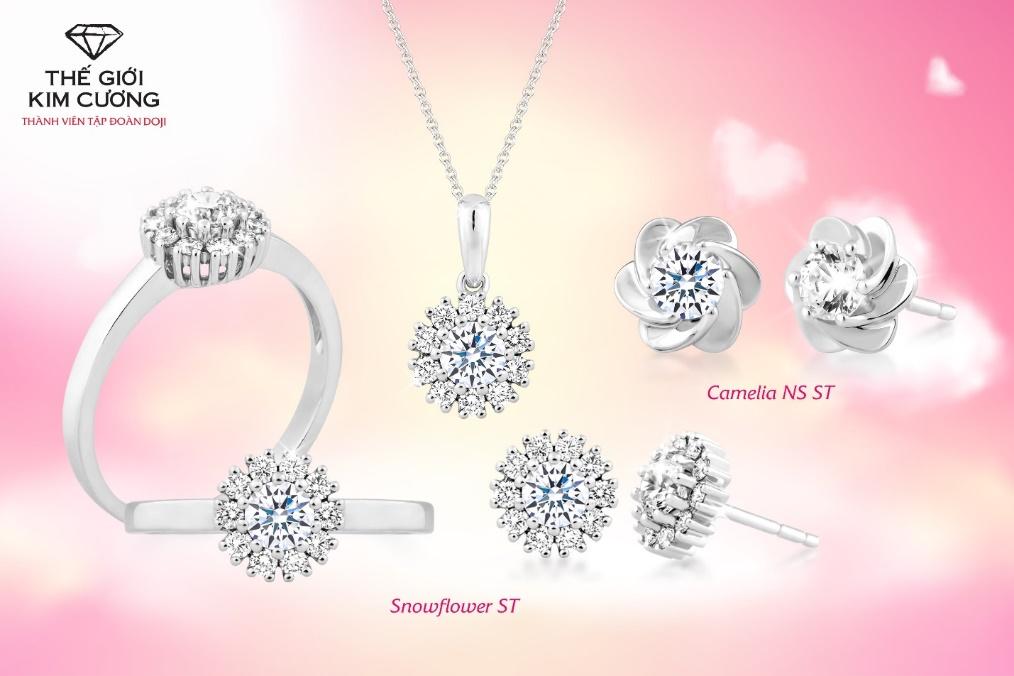 Bộ trang sức kim cương mang đến vẻ đẹp sang trọng, quyến rũ cho phái đẹp