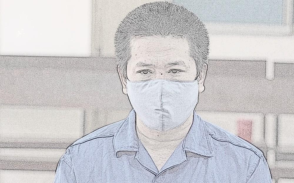 Bị cáo Nguyễn Văn Quá tại phiên tòa ngày 11/10