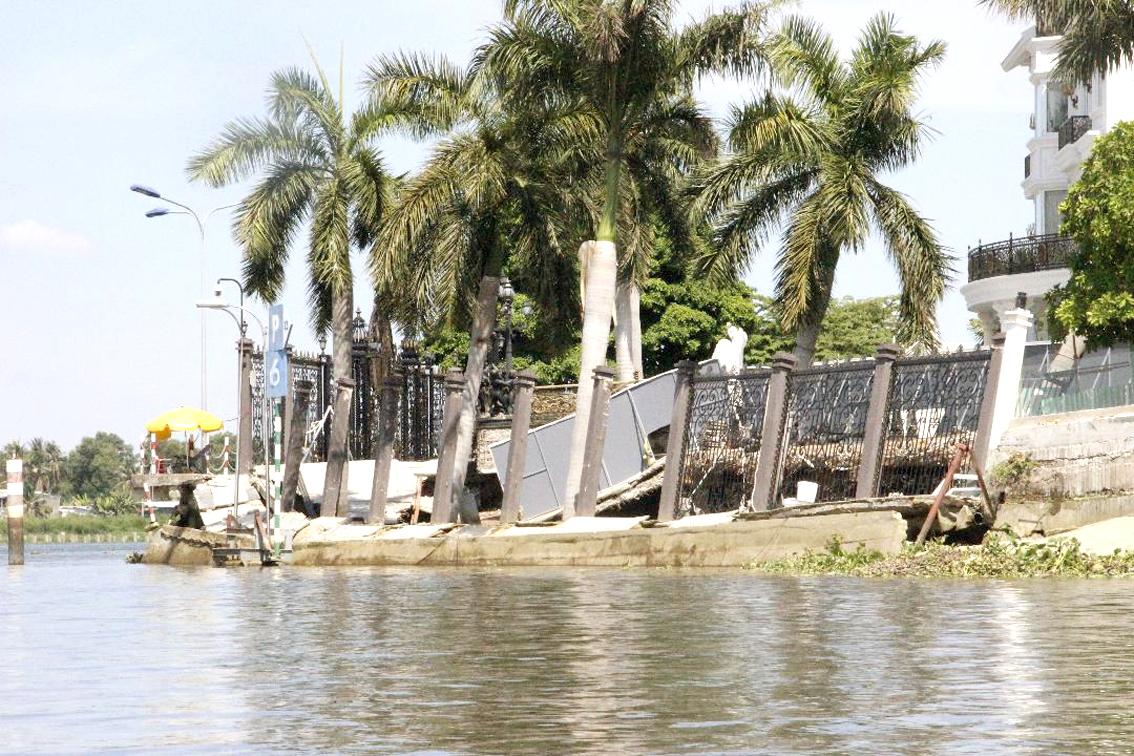 Một điểm sạt lở nguy hiểm trên sông Sài Gòn thuộc TP.Thủ Đức