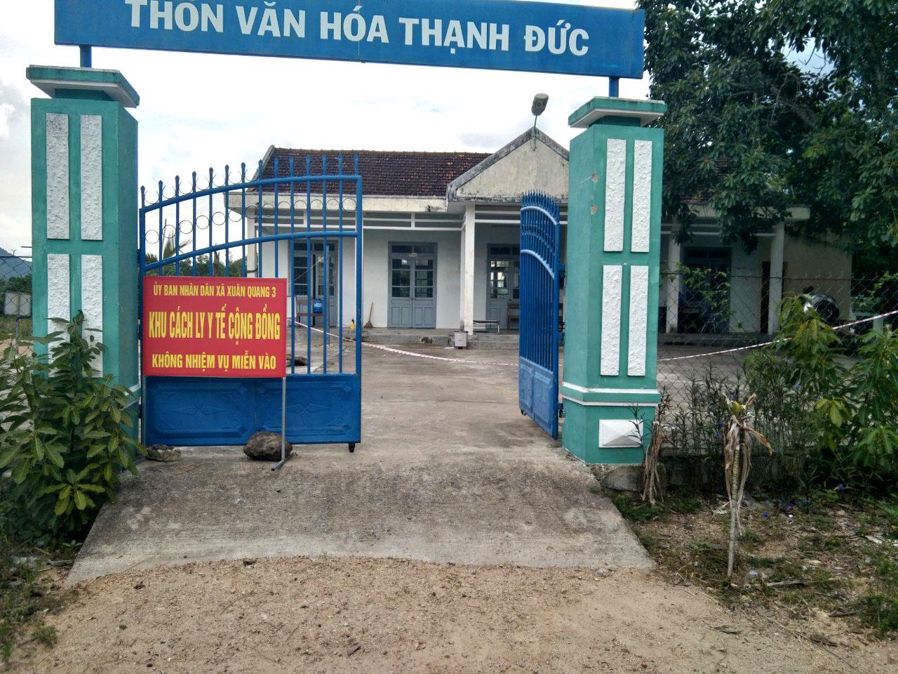 Khu vực cách ly y tế cộng đồng đối với người về từ vùng dịch của tỉnh Phú Yên