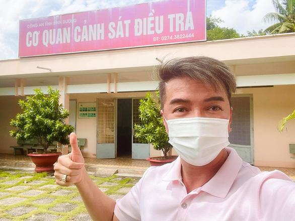CS Đàm Vĩnh Hưng đến làm việc tại Công an tỉnh Bình Dương
