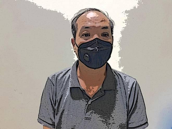 Tài xế ô tô Đào Mạnh Hùng tại cơ quan công an