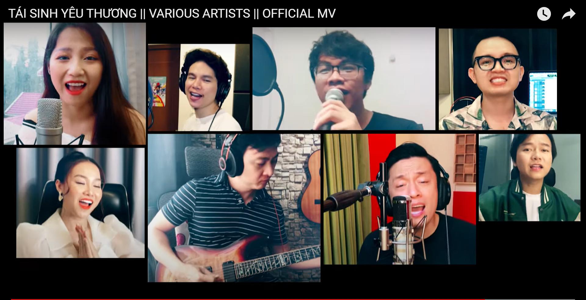 Ảnh chụp màn hình MV Tái sinh yêu thương