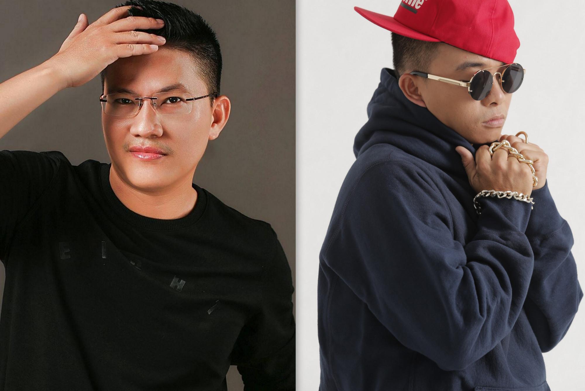 Từ trái qua: Nhạc sĩ Vũ Minh Tâm, rapper Phúc Bồ
