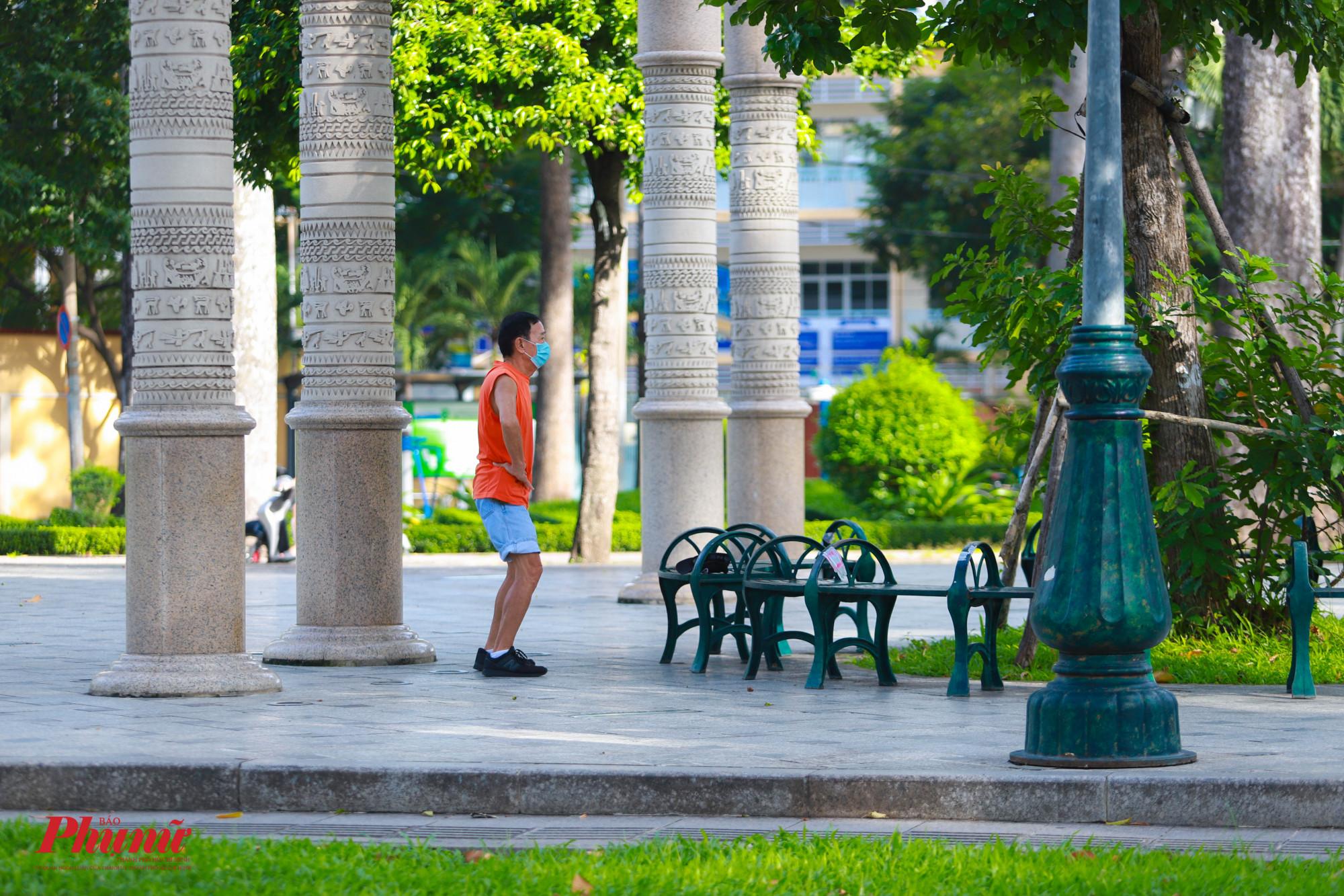 Công viên Văn Lang (Quận 5) đã cho người dân đến tập thể dục