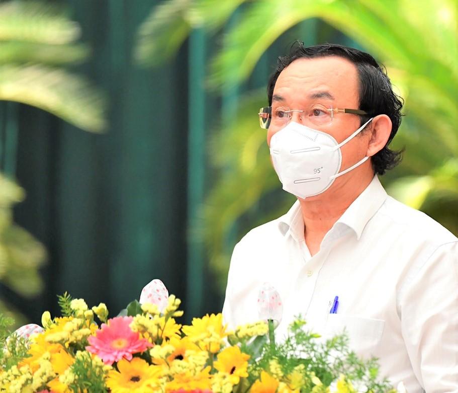 Bí thư Thành ủy TPHCM Nguyễn Văn Nên phát biểu bế mạc Hội nghị.