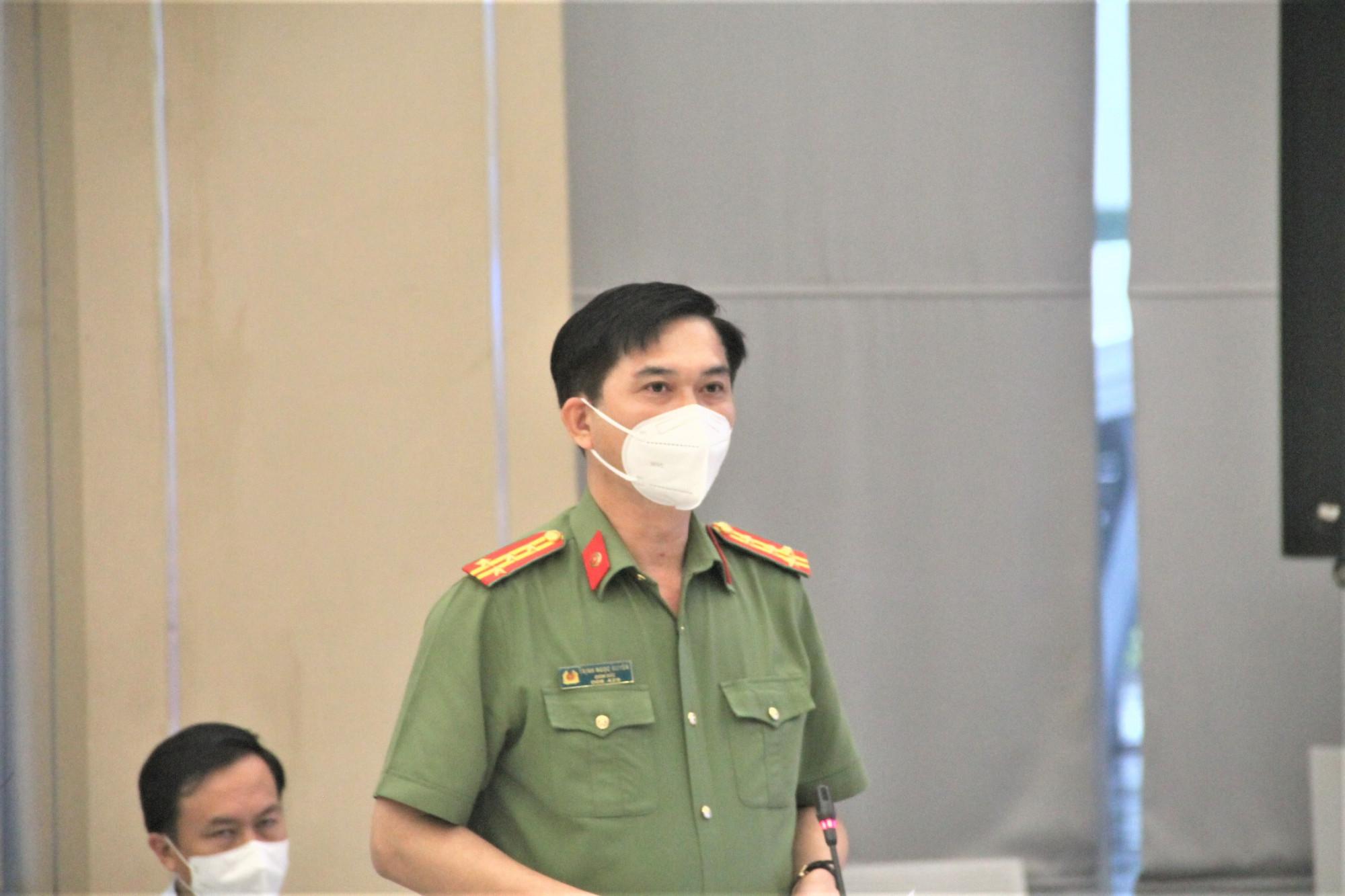 Đại tá Trịnh Ngọc Quyên - Giám đốc công an tỉnh Bình Dương thông tin về tình hình tội phạm