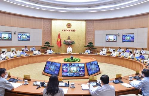 Chính phủ họp thường kỳ tháng 9 /2021. Ảnh VGP