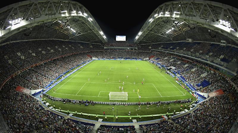 Fisht Stadium là sân vận động có sức chứa 48.000 chỗ ngồi ở thành phố Sochi. Nó sẽ là nơi diễn ra cuộc đối đầu được nhiều người chờ đợi giữa tuyển Tây Ban Nha và tuyển Bồ Đào Nha, cùng 3 trận đấu vòng bảng khác, một trận vòng 16 đội và một trận tứ kết.