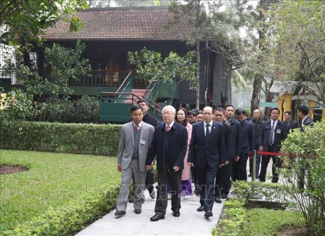 <p><em>Tổng bí thư, Chủ tịch nước Nguyễn Phú Trọng tại Phủ chủ tịch</em></p>
