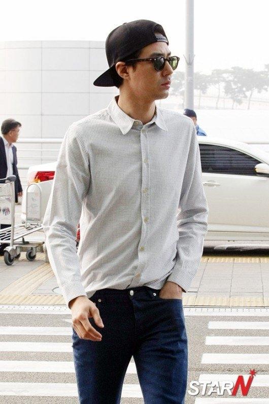 Style san bay chat lu cua sao nam U40 xu Han