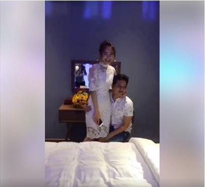 Truong Giang hanh phuc mung sinh nhat va nhan biet thu moi ben Nha Phuong
