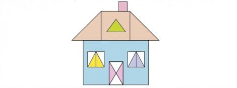 Đố vui: Thử tìm các hình tam giác của ngôi nhà đầy sắc màu này