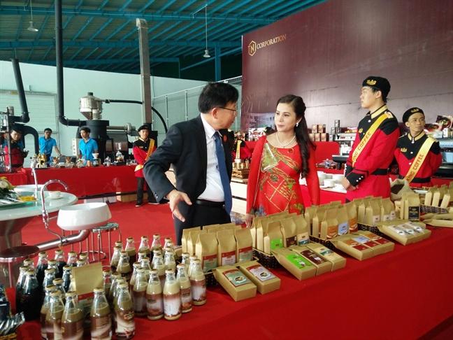 Vo ong Dang Le Nguyen Vu mo nha may ca phe moi TNI King Coffee