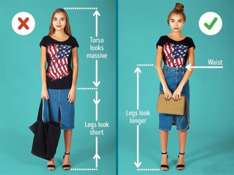 7 cách mix trang phục giúp ăn gian chiều cao