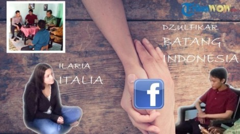 Yêu qua Facebook, cô gái Ý lặn lội cầu hôn 'trai làng' ở Indonesia